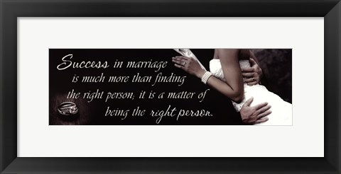 Framed Success In Marriage Print