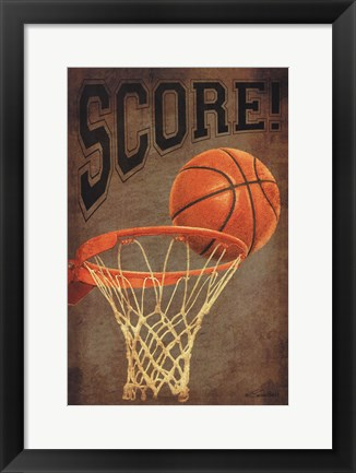 Framed Score Basketball Print