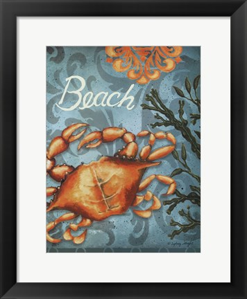 Framed Beach Crab Print