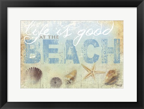 Framed Beach Life Print