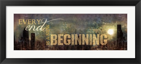 Framed New Beginning Print