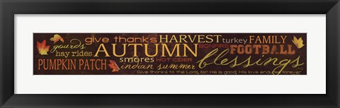 Framed Autumn Blessings Print