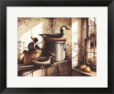 Framed Crocks And Fowl Print