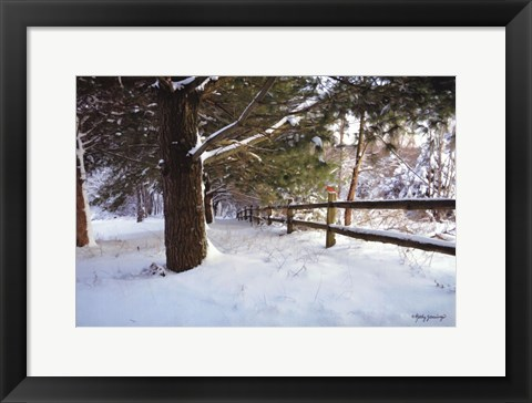 Framed After The Snowfall Print