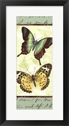 Framed Butterfly Patchwork I Print