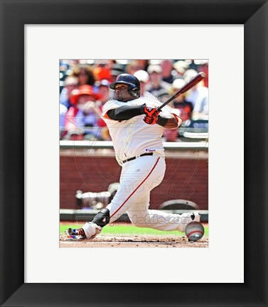 Framed Pablo Sandoval Batting 2013 Print