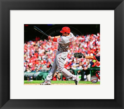 Framed Joey Votto 2013 Action Print