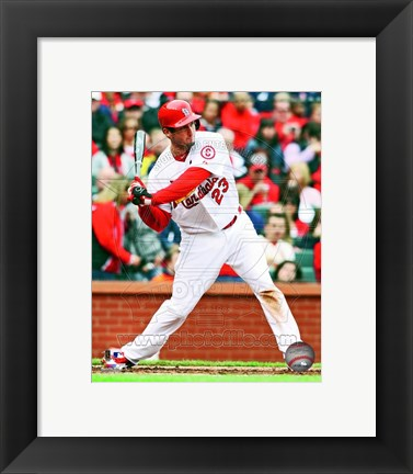 Framed David Freese 2013 Action Print