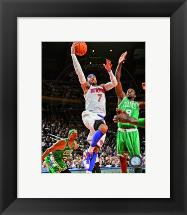 Framed Carmelo Anthony 2012-13 Playoff Action Print