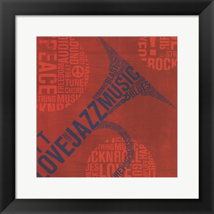 Framed Type Trumpet Square Print