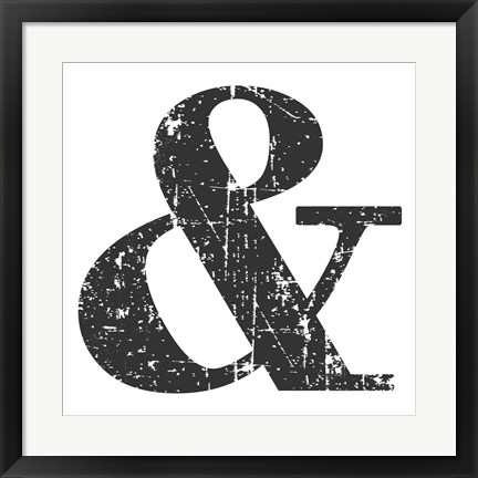 Framed Black Ampersand Print
