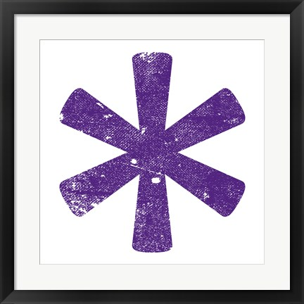 Framed Purple Asterisk Print