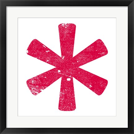 Framed Red Asterisk Print