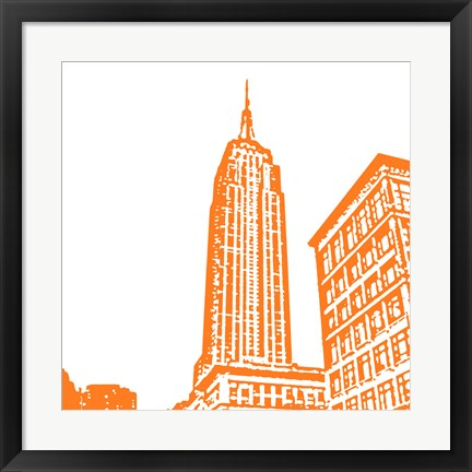 Framed Orange Empire Print