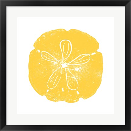 Framed Yellow Sand Dollar Print