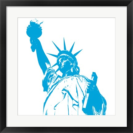 Framed Liberty in Blue Print