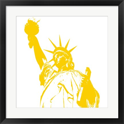 Framed Liberty in Yellow Print