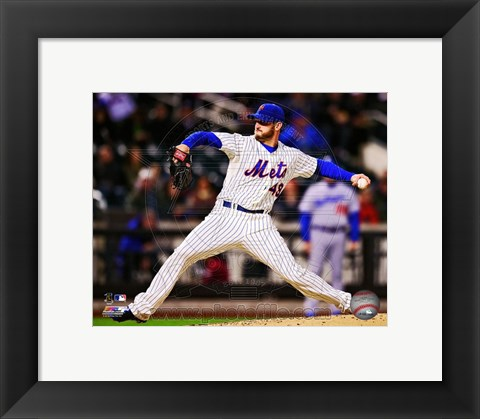 Framed Jonathon Niese 2013 in action Print