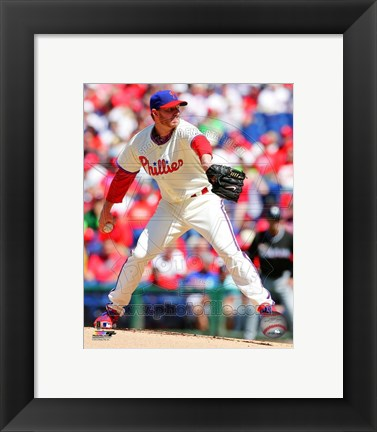 Framed Roy Halladay 2013 Action Print