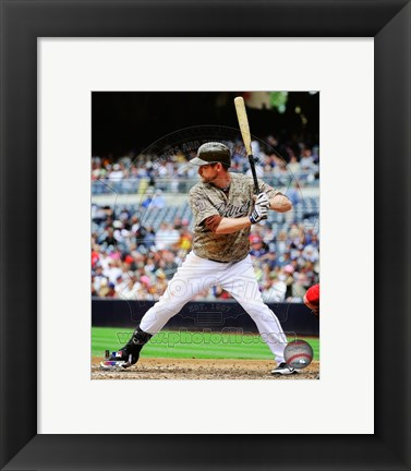 Framed Chase Headley 2013 Action Print