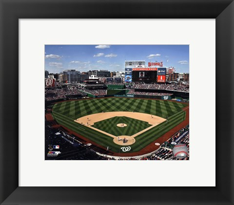 Framed Nationals Park 2013 Print