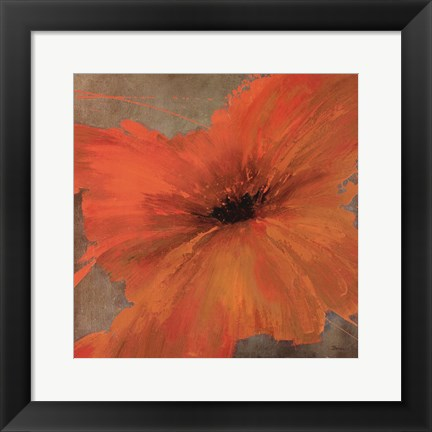 Framed Colourful Flowers IV Print