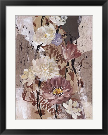 Framed Floral Flair II Print