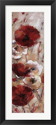 Framed Poppies Afield I Print