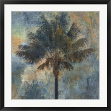 Framed Palm and Blue Print