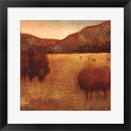 Framed Colour Of Fall III Print