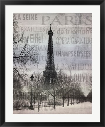 Framed Paris II Print