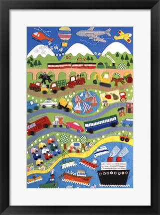 Framed Going Places Print