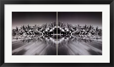 Framed Palms And Infinity Pool Print