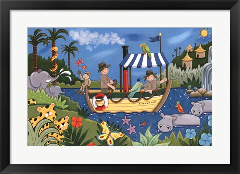 Framed River Adventures Print