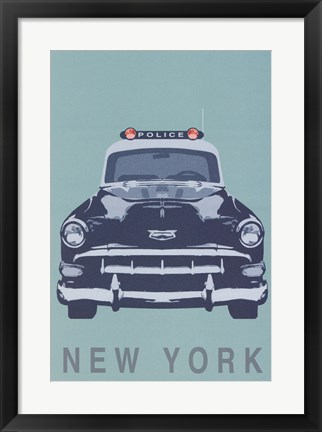 Framed New York - Cop Car Print