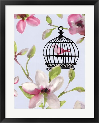 Framed Bird Cage I Print