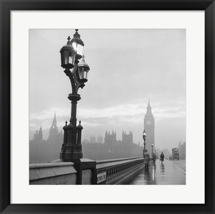 Framed Westminster Bridge and Houses of Parliament, 1962 Print