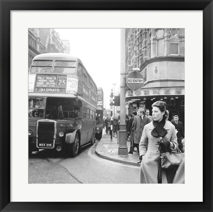 Framed Tottenham Court Road And Oxford Street Junction, 1965 Print