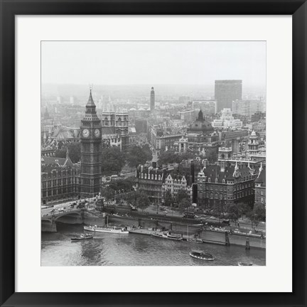 Framed City Of Westminster From The South Bank Of The Thames, 1963 Print