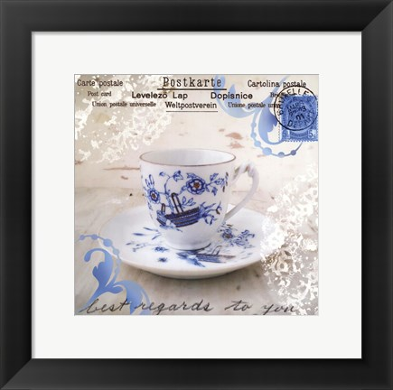 Framed Morning Tea II Print