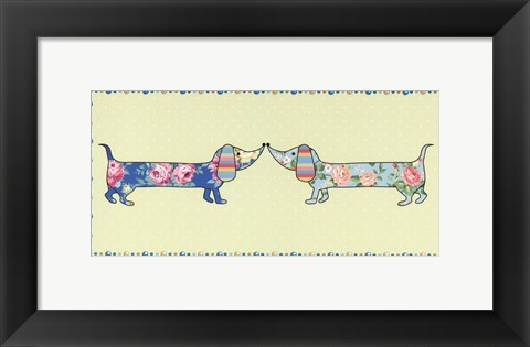 Framed Ditsy Dogs II Print