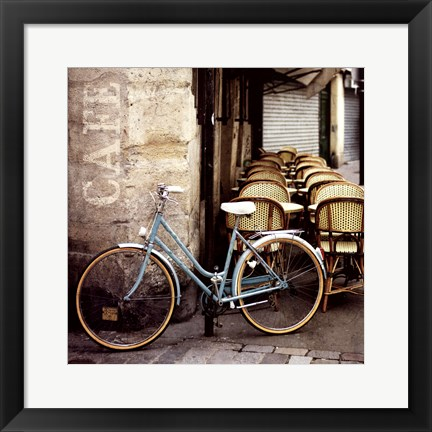 Framed Cafe Bicycle Print
