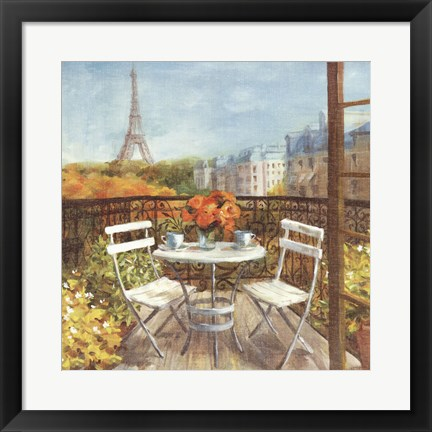 Framed September in Paris Crop Print