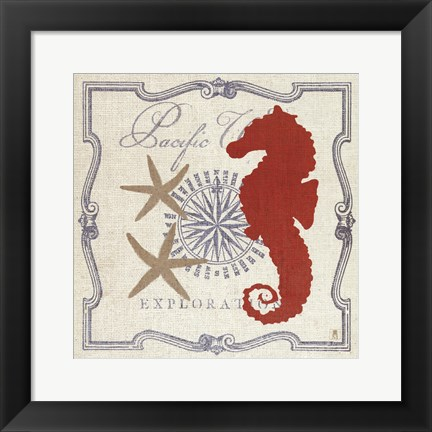 Framed Pacific Seahorse Print