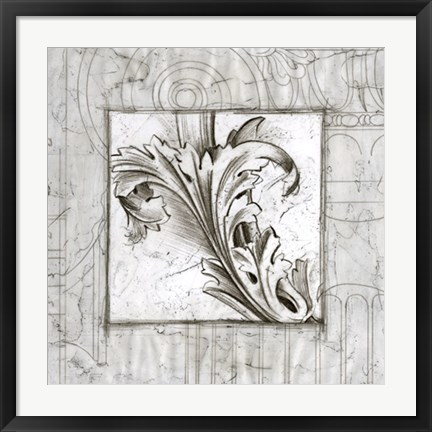 Framed Acanthus Detail III Print