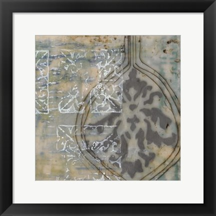 Framed Floating Patterns IV Print