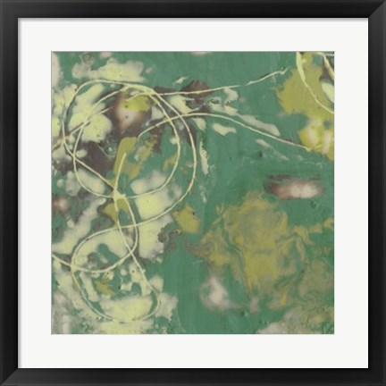 Framed Entwined Emerald II Print
