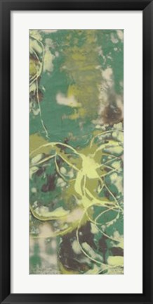 Framed Entwined Emerald III Print