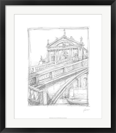 Framed Sketches of Venice I Print