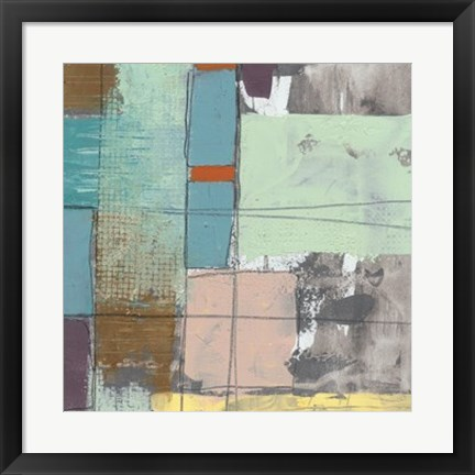 Framed Pastel City II Print